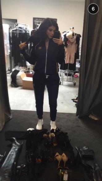 pants kylie jenner kardashians adidas black