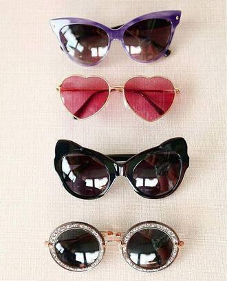 sunglasses chlothes cute black sunglasses round sunglasses red sunglasses purple sunglasses fashion trendy swimwear summer accessories