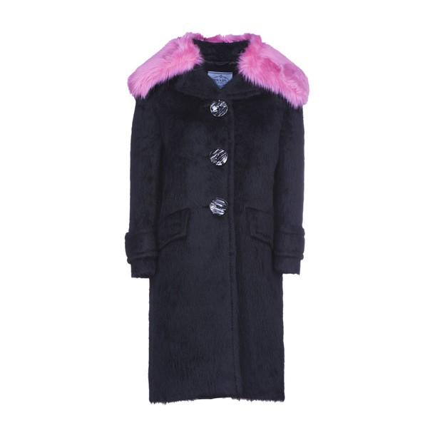 Prada coat oversized rose black