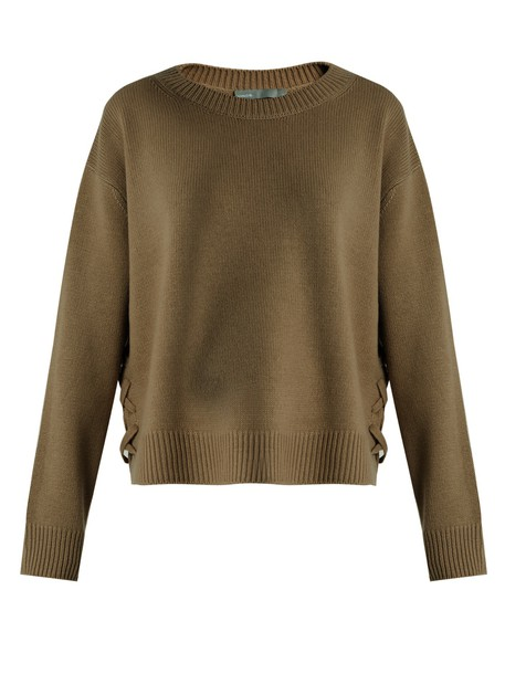 sweater lace khaki