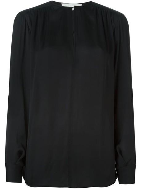 Stella McCartney blouse loose women black silk top