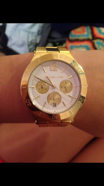 jewels michael kors gold watch michael kors watch
