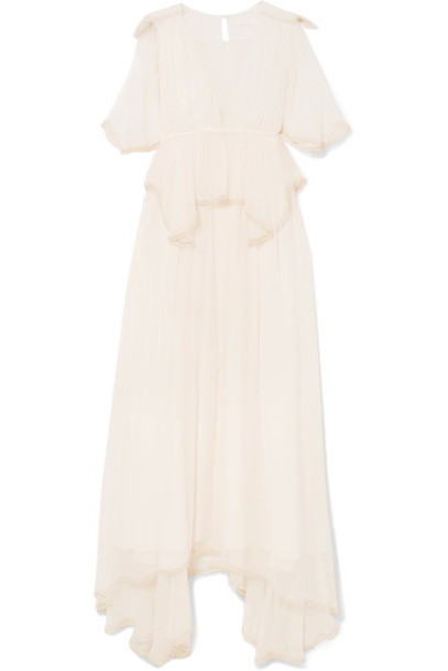 Chloe gown silk cream dress