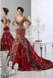 dress,two piece dress set,2 in 1,arabic evening dresses,evening dress,prom dress,mermaid prom dress,sexy mermaid evening dresses,pageant dress,long pageant dresses,long prom dress,red prom dress
