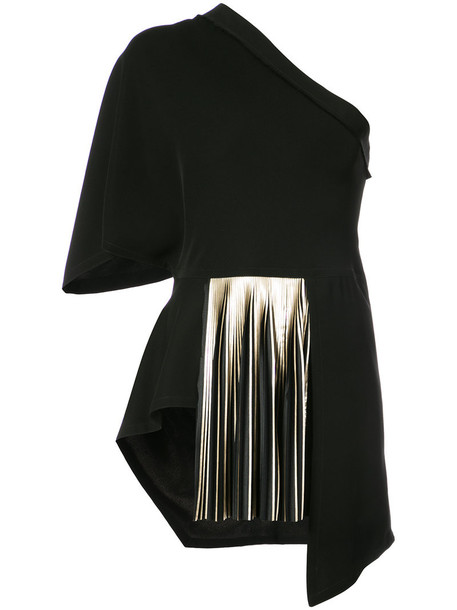 Yigal Azrouel blouse pleated women black top
