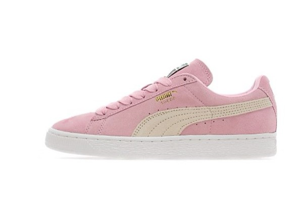 shoes pink puma suedes