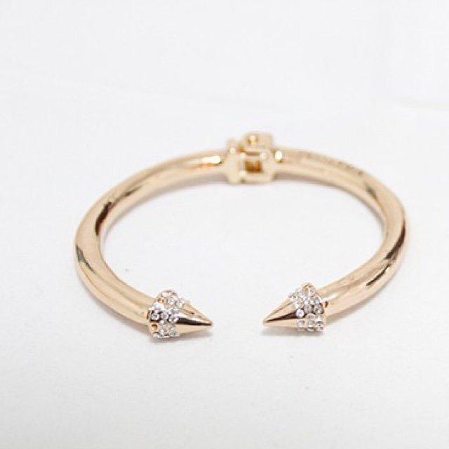 Double spike bracelets bangles