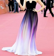 dress,prom dress,long prom dress,prom gown,mermaid prom dress,ombre dress,long dress,lily collins