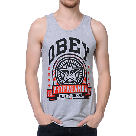 85bc7eec25a4ac Obey Extra Innings Heather Grey Tank Top at Zumiez   PDP