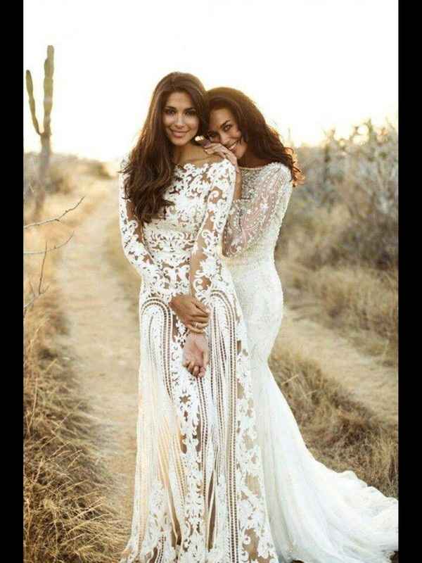 dress wedding dress white dress lace dress nude and lace boho wedding dreess white lace bohohemian sheer lace dress