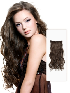 Inch deep wave hair extension in high