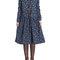 Vintage women floral printed long sleeve dress online - newchic