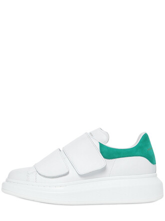 suede sneakers sneakers leather suede white green shoes