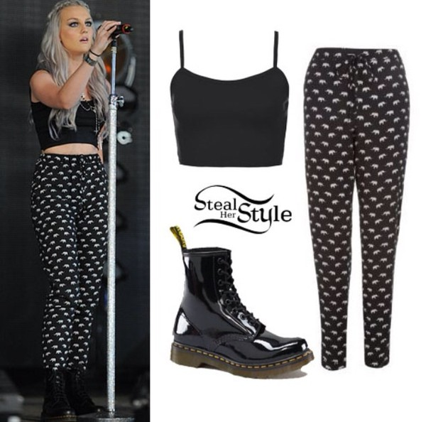 pants flowy perrie edwards print