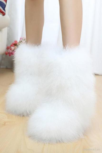 Womens Warm Soft Faux Fur Pull On Furry Ankle Boots Winter Vogue Casual Shoes Ch   eBay
