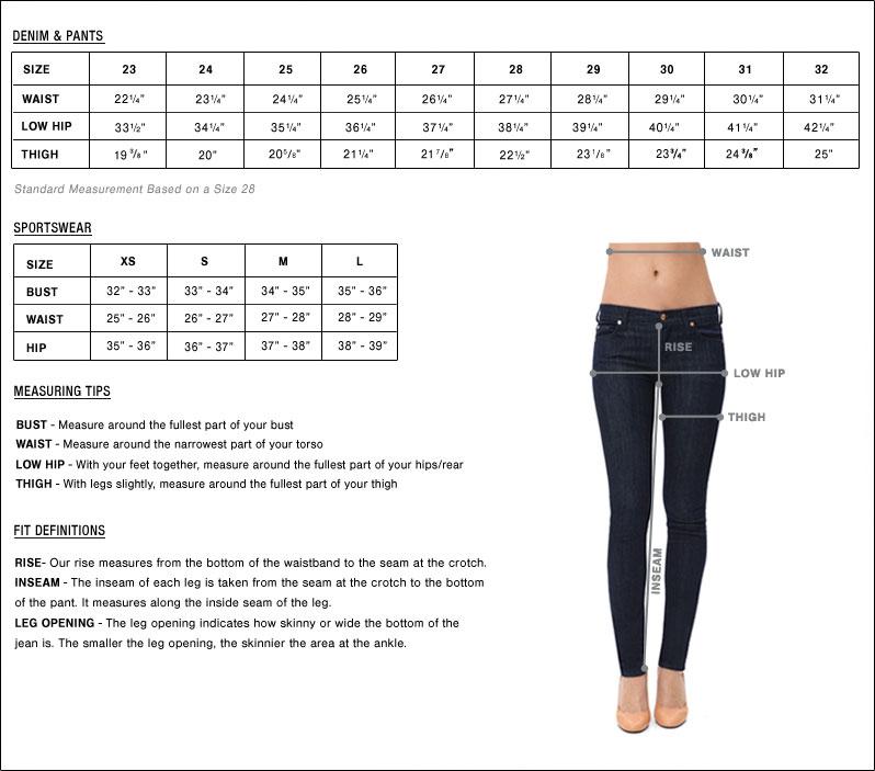 Silver Jean Size Conversion Chart Rebellions