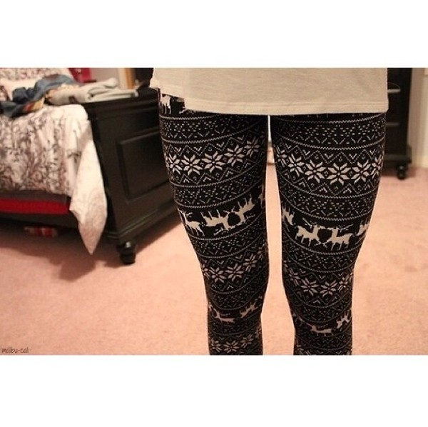 pants christmas leggings fvkin