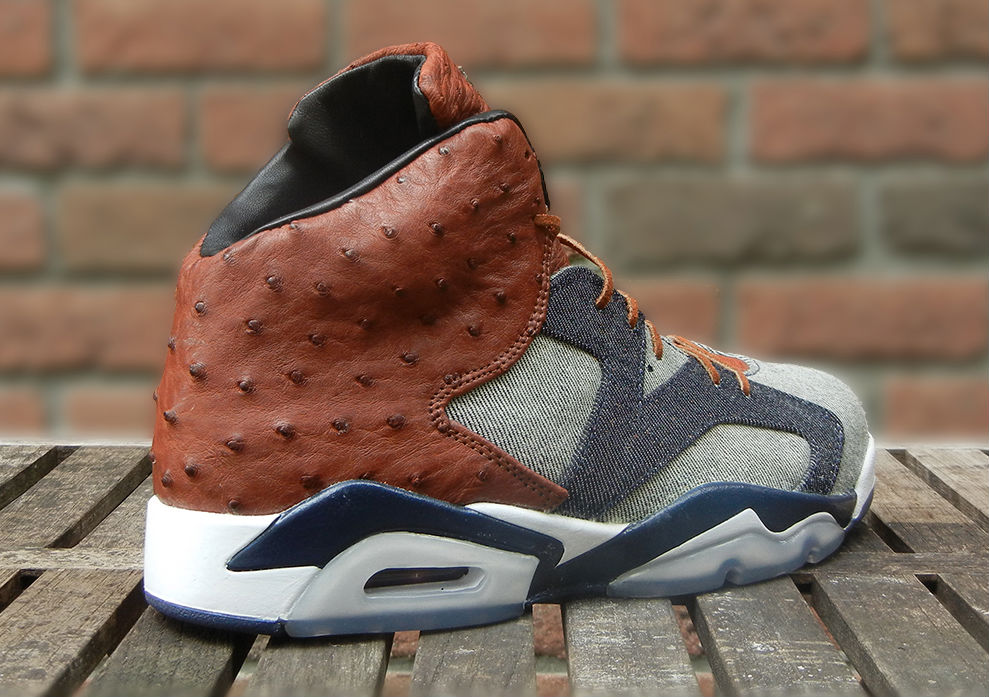 Air Jordan 6 'Ostrich   Denim' by JBF Customs | Sole Collector