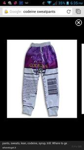 pants,codeine design sweatpants
