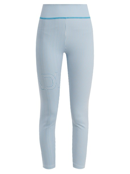 Fendi leggings print light blue light blue pants
