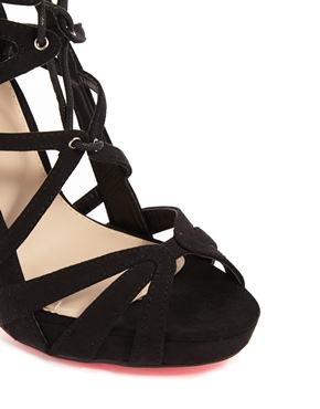 Carvela | Carvela Guard Black Strap Heeled Sandals at ASOS