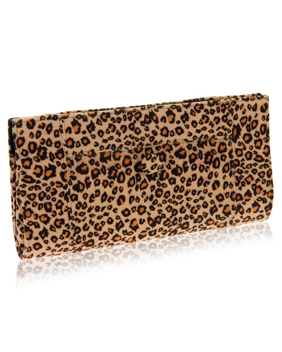 Fair trade leopard print clutch bag purse