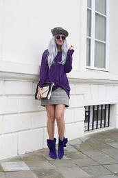 from brussels with love,blogger,blouse,shoes,bag,beret,ankle boots,mini skirt,spring outfits,clutch