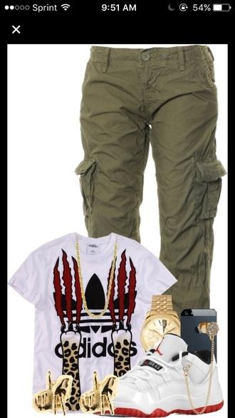 shirt adidas white orange red black jordans army pants watch cute fashion toast fashion vibe fashion is a playground fashion fashion coolture streetwear