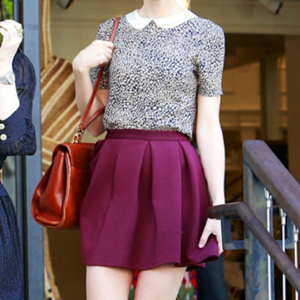 burgundy cute skirt skirt cute