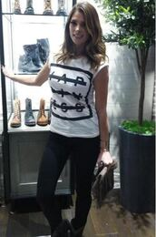 top,ashley greene,fringed bag,fringes,happiness,t-shirt,bag,purse
