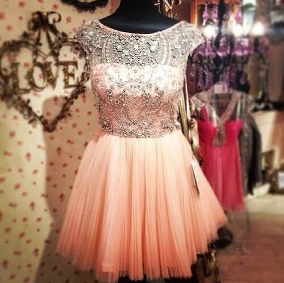 dress lovely glamour pink dress