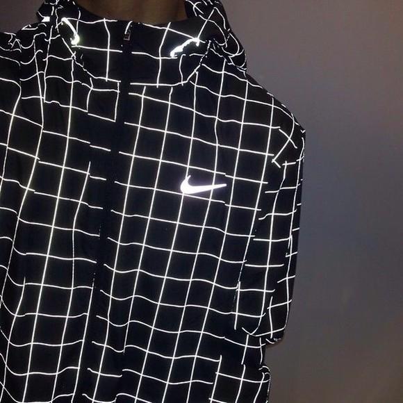 jacket squares fashion fluo checkered nike vest