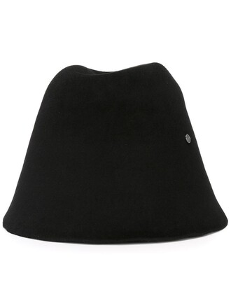 fur women hat felt hat black