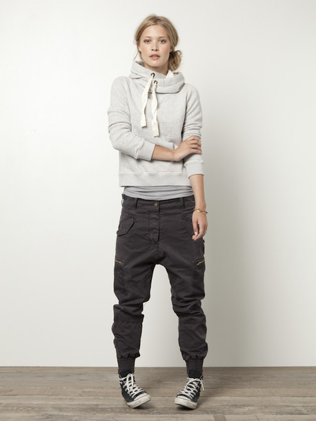pants drop crotch not sure black/grey cargo? sweater comfy jeans jacket androgyny gender fluid fashion clothes top shirt shoes loose parachute pants elastic ankle joggers white hoodie blouse