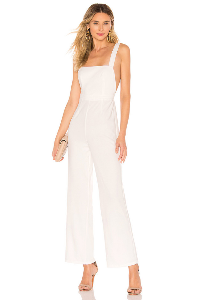 by the way. Genevieve Overall Jumpsuit in white