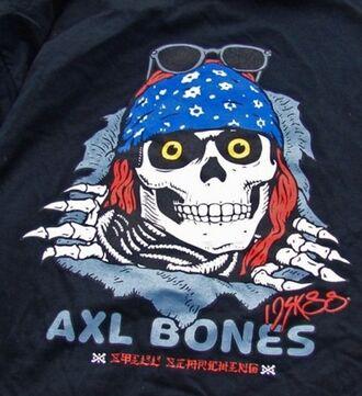 t-shirt skater skateboard axl rose guns and roses rock alternative