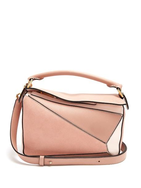 LOEWE cross bag leather light nude