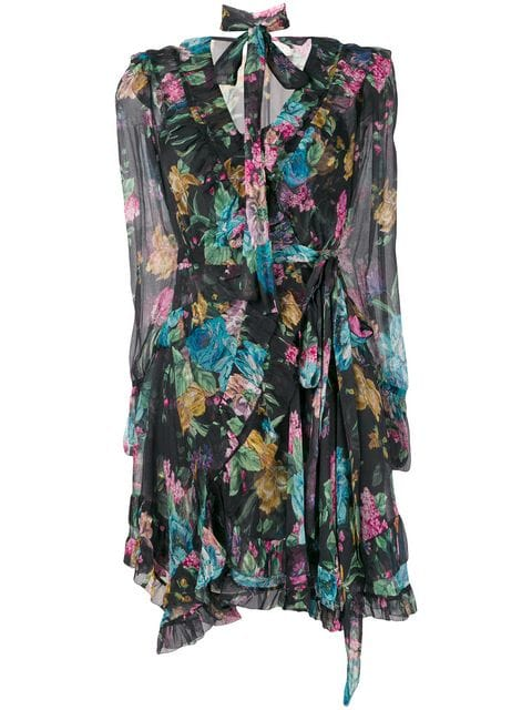Zimmermann Ninety-Six Frill Wrap Dress - Farfetch