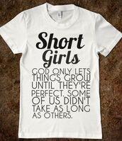 t-shirt,short girls,short,girl,small,funny,shirt,trendy,women