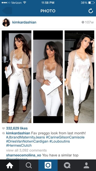 tank top white top white t-shirt white shirt kim kardashian dress