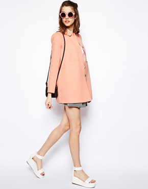 ASOS | ASOS Dolly Coat in Jacquard at ASOS