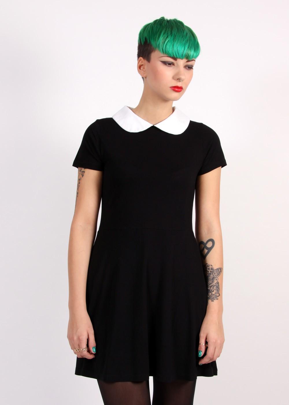 Disturbia Wednesday Dress Black