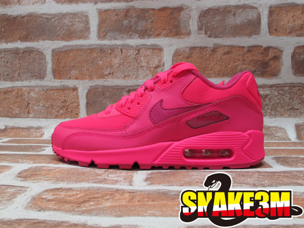 78fc7bd15f23 ... free shipping ds 2014 nike air max 90 2007 gs atmos youth hyper vivid  pink girls