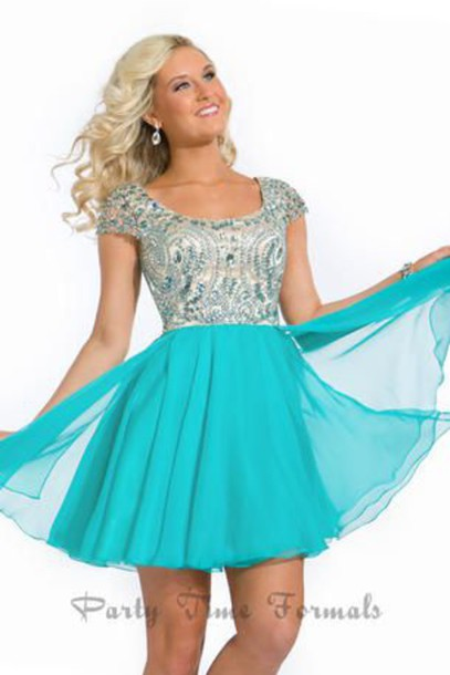dress homecoming sparkle blue dress homecoming dress aqua dress white dress