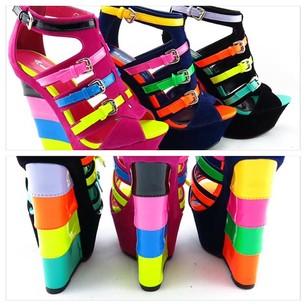 Neon party shoes pumps