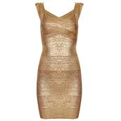 dress,gold,party,sexy,bandage,bandage dress,elegant,chic,fashion,girl,elegant dress