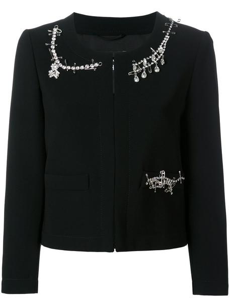 BOUTIQUE MOSCHINO jacket embellished jacket women embellished black