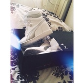 shoes,puma,high top sneakers,white sneakers,platform shoes,heeled,velcro,white,silver,metallic,sports luxe