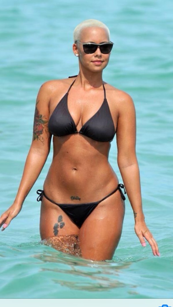 swimwear black bikini amber rose