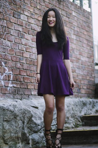 shanni side up blogger dress shoes purple dress